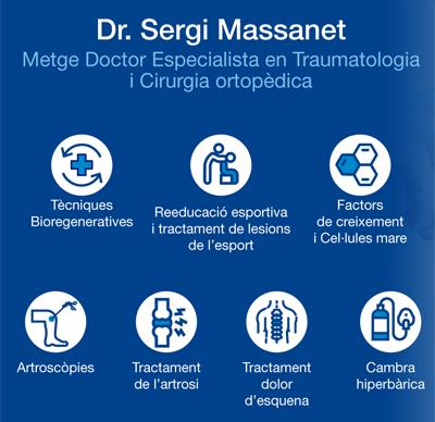 Servicios Dr. Massanet. Tratumatología Sant Cugat